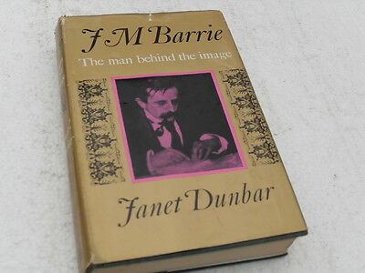 J. M. Barrie biography HB book with DJ signed by author Janet Dunbar. 1970.