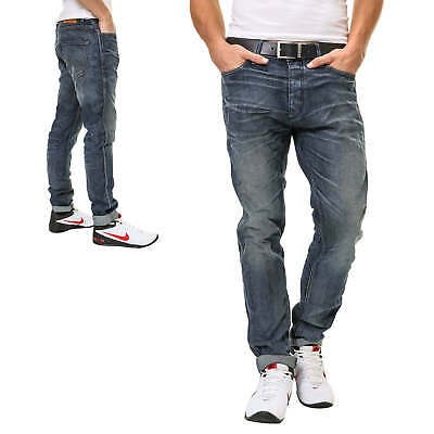 Jack & Jones Herren Jeans Regular Fit Jeanshose Comfort Fit Casual Used Denim %
