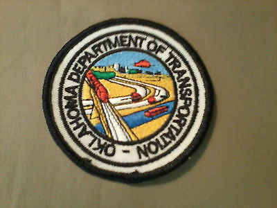 OK Dept. of Transportation Embroidered Patch, MINT, Made in USA