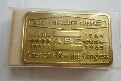 Belt Buckle American Bowling Congress-Most Improved Average League Award