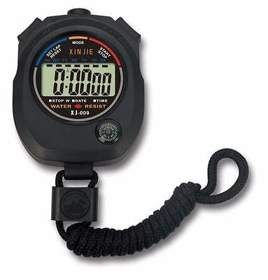 Waterproof Digital LCD Stopwatch Chronograph Timer Counter Sports Alarm Friday