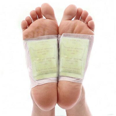 10 Patches Gold Detox Foot Pads Patches Remove Body Toxins Weight Loss/Slimming