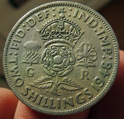 1948 Two Shillings King George Vi th