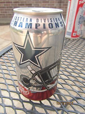 2007 DALLAS COWBOYS Full DR PEPPER Can - Eastern Division Champions