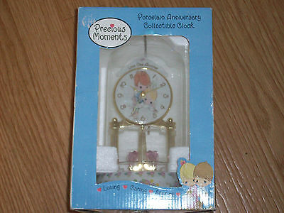 Precious Moments Porcelain Anniversary Collectible Clock - Unused