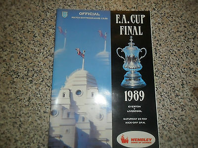 Everton V Liverpool 1989 F A Cup Final 20 May 1989 Mint Condition