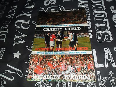 Liverpool V Manchester United Charity Shield 13 August 1977 Excellent