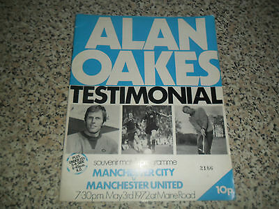 Manchester City V Manchester United Alan Oakes Testimonial May 3 1972 Maine Roa