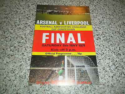 Arsenal V Liverpool F A Cup Final 8 May 1971 Excellent Condition