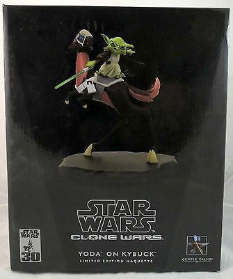 Gentle Giant Star Wars Clone Wars Animated Yoda on Kybuck Maquette