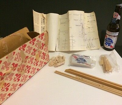 NOS 70s Vintage Pabst Blue Ribbon Beer Can Ship Kit In Original Box Look!