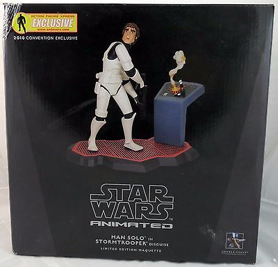 Gentle Giant Star Wars Animated Han Solo Stormtrooper Disguise Maquette
