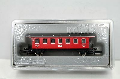 Marklin Z Scale 8701 Wrttemberg Provincial Railroad 2nd Class Red Passenger Ca