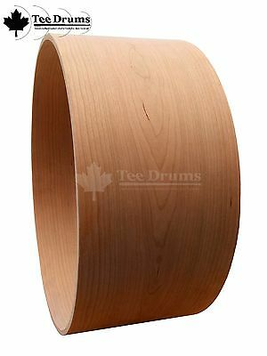 """100% Cherry Snare Drum Shells (10 ply) 13"""" and 14"""" (various size options)"""