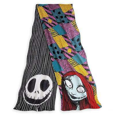 Disney Parks Jack Skellington and Sally Scarf Nightmare Before Christmas New