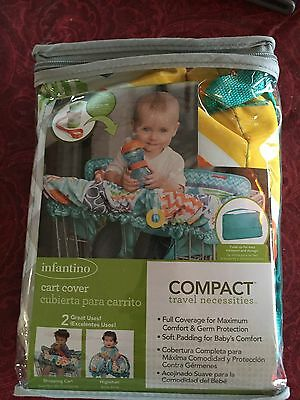 Infantino Compact Cart Cover Multi Colored Shopping Cart Highchair Cup Strap New