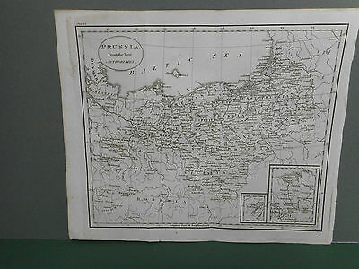 100% Original Prussia  Map By Guthrie C1806 Vgc