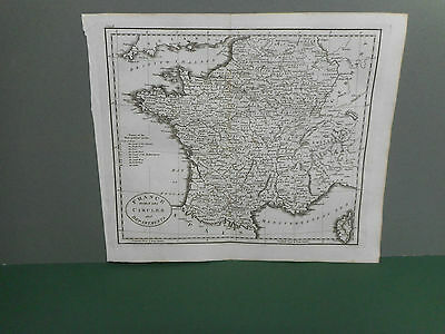100% Original France  Map By Guthrie C1806 Vgc