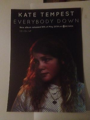 Kate Tempest Everybody Down official Big Dada A3 shop mini poster, few available