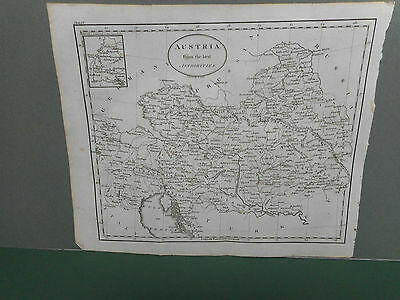 100% Original Austria  Map By Guthrie C1806 Vgc