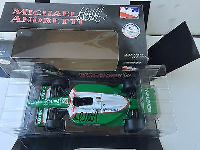 Michael Andretti, Hand Signed , 2003,  7-11, Andretti Green 1/18 Action Racing