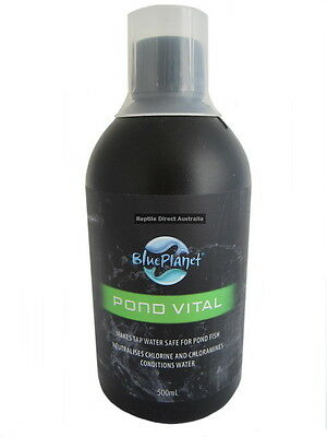 Blue Planet Pond Vital 500ml or 2L water fish treatment neutralise chlorine tap