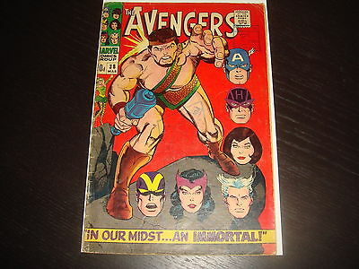 THE AVENGERS #38  Silver Age  Heck  Marvel Comics 1967  GD+