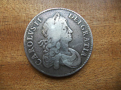 1671 CHARLES 2nd SILVER CROWN