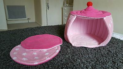 XL Pink Guinea Pig Fleece Wadded Cupcake Hideaway House with 2 Wadded Pads.
