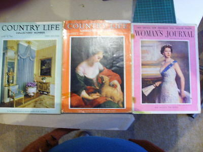 Vintage magazines country life 1965 and womans  journal 1956