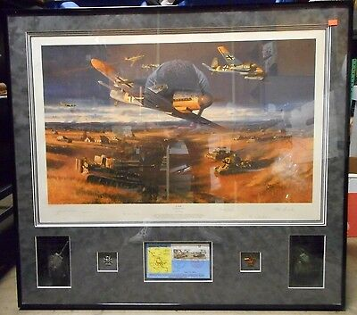 Kursk Clash Of Steel By Nicolas Trudgian - 6 Signatures Signed Framed Numbered