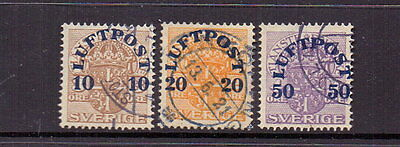 Sweden 1920 Airs ( 3 ) Fine Used Cat £39