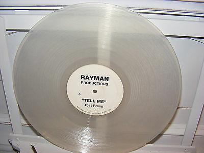 "Rayman 12"" Tell Me clear vinyl test press UK Garage 2002 only 50 pressed"