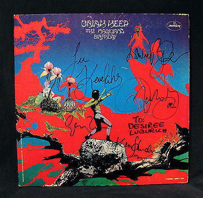 URIAH HEEP-Autographed THE MAGICIANS BIRTHDAY Album By All-DAVID BYRON