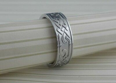 Cobalt Chrome Celtic Knot Wedding Ring Band  Made in USA Size 10