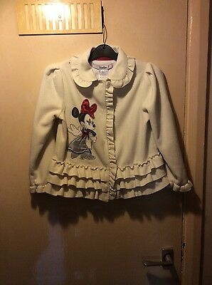 Girls Cream Disney Parks Fleece Jacket Age 6-7 years