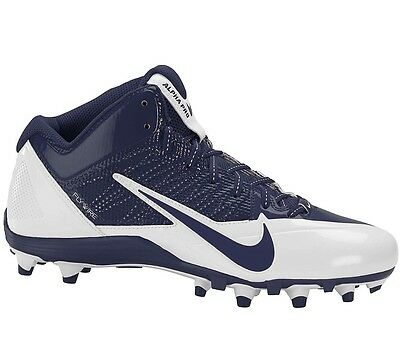 Nike Alpha Pro Flywire TD Mid Football Cleats 579636-140 Mens Size 11