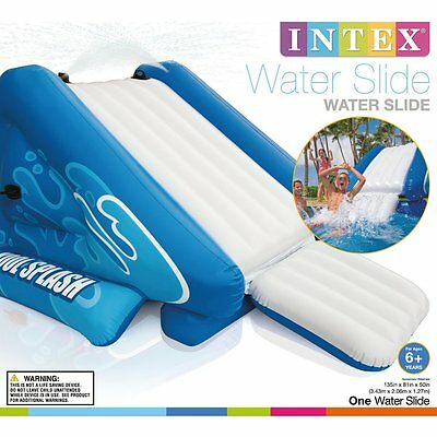 """Intex Water Slide Inflatable Play Center, 135"""" X 81"""" X 50""""  for Ages 6+"""