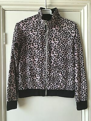 Y.d animal print pink zipped top size 12- 13 years