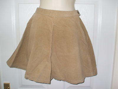 Gorgeous Girls Internacionale Camel Cord Skater Skirt Age 14-15 Years *bnwt* Wow