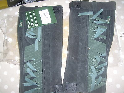 Mountain Horse Suede Leather Half Chaps Junior Small BNWT