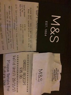 Marks and Spencer's Gift Card Vouchers £70.00