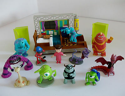 Disney Monsters University Mixed Toy Figures Bundle