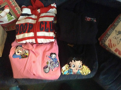 Betty Boop Sequined Knit top, Sweater, Zip Front Sweatshirt, Button Front Shirt