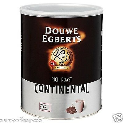 2 x Douwe Egberts Rich Roast Continental Instant Coffee Granules 750g Tin