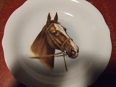 Porcelain Horse Plate Owned Since I Was Girl 50Yrs Ago, Exc. Cond.  Reduced!!!