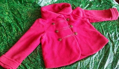 Next red and gold girls winter jacket age 2-3