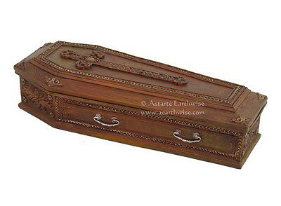 1 x SMALL COFFIN  BOX Wicca Witch Pagan Goth RITUAL SPELL WORK