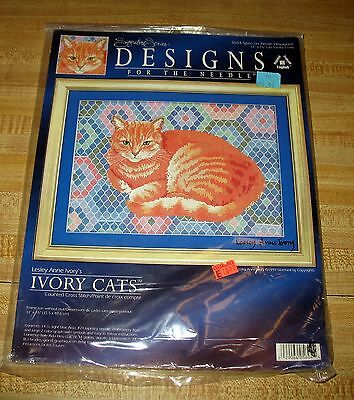 Designs for the Needle 5604 Spiro on Amish Lesley Anne Ivory Cats CCS Kit NIP