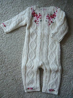 babyGap Floral Sweater Embroidered One-Piece, Size 6-12 Mos, New with Tags
